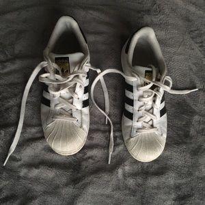 Adidas Superstars (Size 7 women's)